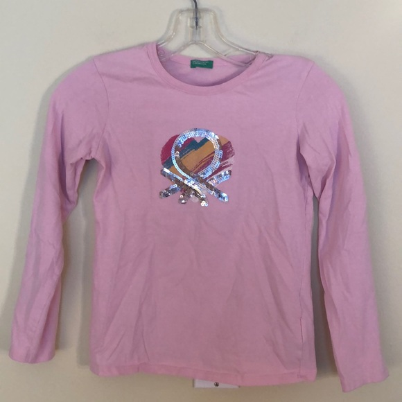 United Colors of Benetton Girls Long Sleeve Top